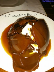 Chocolate Bomb from California Boulevard restaurant in Gurgaon