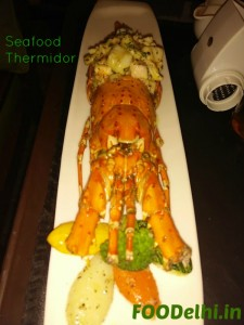 seafood thermidor at a classic restaurant in gurgaon