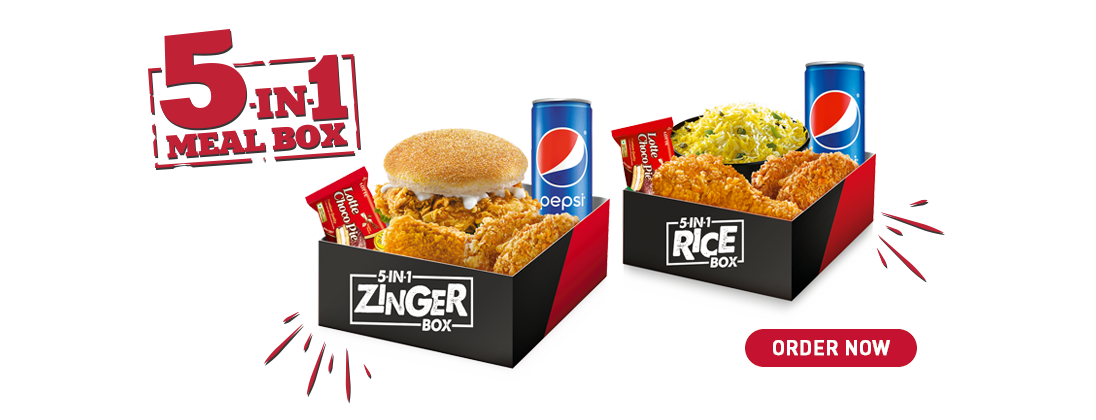 Kfc 5 In 1 Zinger Box New Advertisement Targets Competition
