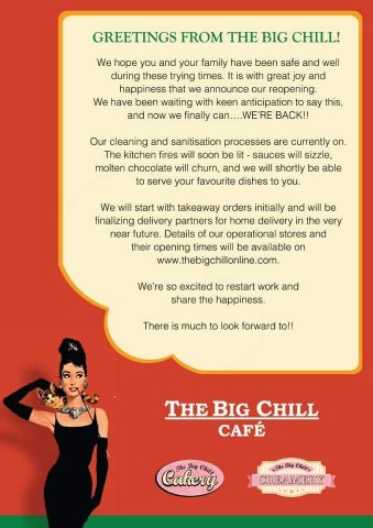 Big chill cafe home delivery